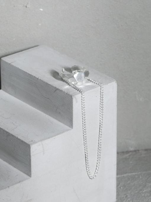 DAKA 925 Sterling Silver Tassel Minimalist Threader Earring [Single] 1